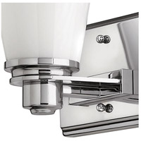 Hinkley 5550CM Avon 1 Light 7 inch Chrome Bath Sconce Wall Light in Incandescent, Cased Opal alternative photo thumbnail