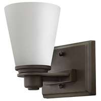 Hinkley 5550KZ Avon 1 Light 7 inch Buckeye Bronze Bath Sconce Wall Light in Incandescent, Etched Opal, Etched Opal Glass