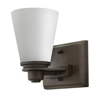 Hinkley 5550KZ-GU24 Avon 1 Light 7 inch Buckeye Bronze Bath Vanity Wall Light in Etched Opal, GU24, Etched Opal Glass