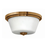 Hinkley Lighting Avon 2 Light Flush Mount in Brushed Bronze 5551BR-LED