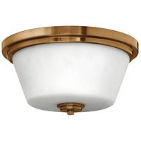 Hinkley 5551BR Signature 2 Light 15 inch Brushed Bronze Bath Flush Mount Ceiling Light in Incandescent Avon