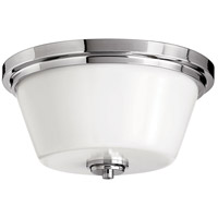 Hinkley 5551CM Signature 2 Light 15 inch Chrome Flush Mount Ceiling Light in Incandescent, Avon