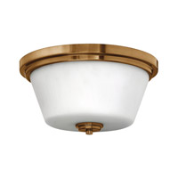Signature 2 Light 15 inch Brushed Bronze Flush Mount Ceiling Light in GU24, Etched Opal Glass