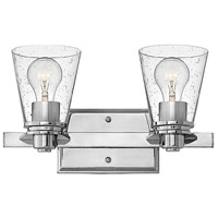 Hinkley 5552CM-CL Avon 2 Light 15 inch Chrome Bath Light Wall Light in Incandescent, Clear Seedy