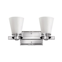 Hinkley Lighting Avon 2 Light Bath Vanity in Chrome with Etched Opal Glass 5552CM-LED