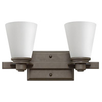 Hinkley Lighting Avon 2 Light Bath Vanity in Buckeye Bronze with Etched Opal Glass 5552KZ