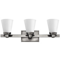 Hinkley 5553BN Avon 3 Light 23 inch Brushed Nickel Bath Light Wall Light in Incandescent, Etched Opal