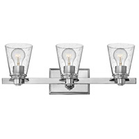 Hinkley 5553CM-CL Avon 3 Light 23 inch Chrome Bath Light Wall Light in Incandescent, Clear Seedy