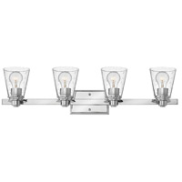 Hinkley 5554CM-CL Avon 4 Light 32 inch Chrome Bath Light Wall Light in Incandescent, Clear Seedy