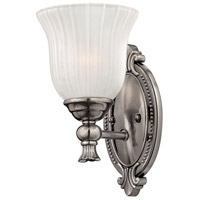 Hinkley 5580PL Francoise 1 Light 6 inch Polished Antique Nickel Bath Sconce Wall Light