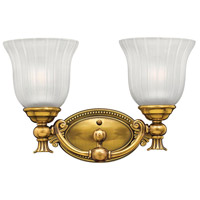 Hinkley 5582BB Francoise 2 Light 15 inch Burnished Brass Bath Light Wall Light