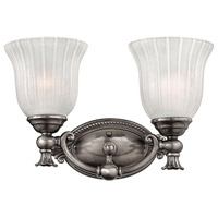 Hinkley 5582PL Francoise 2 Light 15 inch Polished Antique Nickel Bath Light Wall Light
