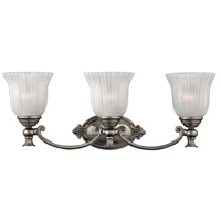 Francoise 3 Light 25 inch Polished Antique Nickel Bath Light Wall Light