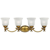 Hinkley 5584BB Francoise 4 Light 31 inch Burnished Brass Bath Light Wall Light