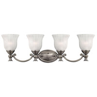 Hinkley 5584PL Francoise 4 Light 31 inch Polished Antique Nickel Bath Light Wall Light