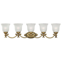 Francoise 5 Light 37 inch Burnished Brass Bath Vanity Wall Light
