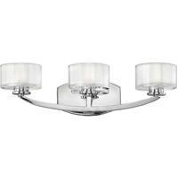 Hinkley 5593CM-LED Meridian LED 21 inch Chrome Bath Light Wall Light
