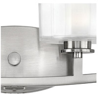 Hinkley 5594BN-LED Meridian LED 29 inch Brushed Nickel Bath Light Wall Light, Thick Faceted Clear Inside Etched Glass alternative photo thumbnail