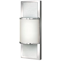 Mira 1 Light 6 inch Chrome Bath Sconce Wall Light, Etched Opal Glass