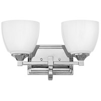 Faye 2 Light 15 inch Chrome Bath Light Wall Light