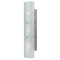 Hinkley 56203BN Costa 3 Light 24 inch Brushed Nickel Bath Vanity Wall Light, Etched Bubble Art Glass alternative photo thumbnail