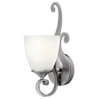 Reese 1 Light 5 inch Antique Nickel Bath Wall Light, Etched Opal Glass
