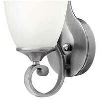 Hinkley 56320AN Reese 1 Light 5 inch Antique Nickel Bath Sconce Wall Light, Etched Opal Glass alternative photo thumbnail