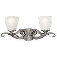 Reese 2 Light 21 inch Antique Nickel Bath Wall Light, Etched Opal Glass