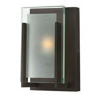 Latitude 1 Light 5 inch Oil Rubbed Bronze Bath Vanity Wall Light in LED, Clear Beveled Inside-Etched Glass