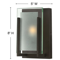 Hinkley 5650OZ Latitude 1 Light 5 inch Oil Rubbed Bronze ADA Sconce Wall Light in G9, Clear Beveled Inside-Etched Glass alternative photo thumbnail
