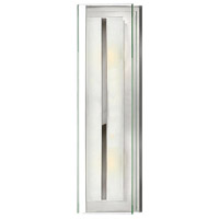 Hinkley 5651CM Latitude 2 Light 6 inch Chrome Bath Sconce Wall Light, Clear Beveled Inside-Etched Glass