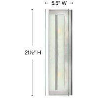 Hinkley 5651BN Latitude 2 Light 6 inch Brushed Nickel Sconce Wall Light, Clear Beveled Inside-Etched Glass alternative photo thumbnail