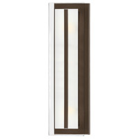 Hinkley 5651OZ Latitude 2 Light 6 inch Oil Rubbed Bronze Bath Vanity Wall Light, Clear Beveled Inside-Etched Glass