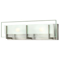 Hinkley 5652BN Latitude 2 Light 18 inch Brushed Nickel Bath Light Wall Light in G9