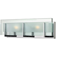 Hinkley 5652CM Latitude 2 Light 18 inch Chrome Bath Light Wall Light in G9