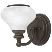 Hinkley 56550KZ Ainsley 1 Light 6 inch Buckeye Bronze Sconce Wall Light, Cased Opal Glass