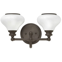 Hinkley 56552KZ Ainsley 2 Light 16 inch Buckeye Bronze Bath Light Wall Light, Cased Opal Glass