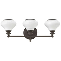 Hinkley 56553KZ Ainsley 3 Light 24 inch Buckeye Bronze Bath Light Wall Light, Cased Opal Glass
