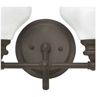 Hinkley 56554KZ Ainsley 4 Light 33 inch Buckeye Bronze Bath Light Wall Light, Cased Opal Glass alternative photo thumbnail