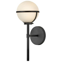Hinkley 5660BK-LL Hollis LED 8 inch Black Bath Sconce Wall Light