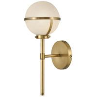 Hinkley 5660HB-LL Hollis LED 8 inch Heritage Brass Bath Light Wall Light