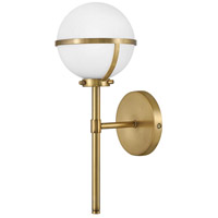 Hinkley 5660HB-LL Hollis LED 8 inch Heritage Brass Bath Sconce Wall Light