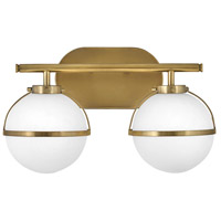 Hinkley 5662HB-LL Hollis LED 15 inch Heritage Brass Bath Light Wall Light