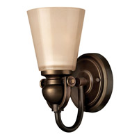 Hinkley 5670OB Mayflower 1 Light 5 inch Olde Bronze Bath Vanity Wall Light photo thumbnail