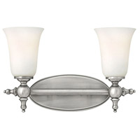 Hinkley 5742AN Yorktown 2 Light 16 inch Antique Nickel Bath Vanity Wall Light