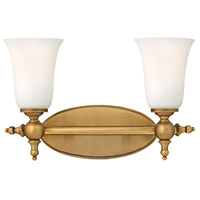 Yorktown 2 Light 16 inch Brushed Bronze Bath Light Wall Light
