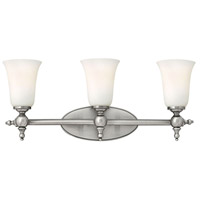 Hinkley 5743AN Yorktown 3 Light 24 inch Antique Nickel Bath Vanity Wall Light