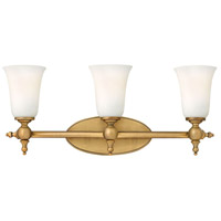 Yorktown 3 Light 24 inch Brushed Bronze Bath Light Wall Light