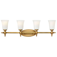 Yorktown 4 Light 33 inch Brushed Bronze Bath Light Wall Light