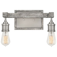 Denton 2 Light 14 inch Pewter with Driftwood Grey Accents Bath Light Wall Light